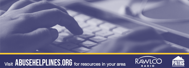 Hands on a keyboard. Visit Abuse Helplines Dot Org for a list of resources in your area.